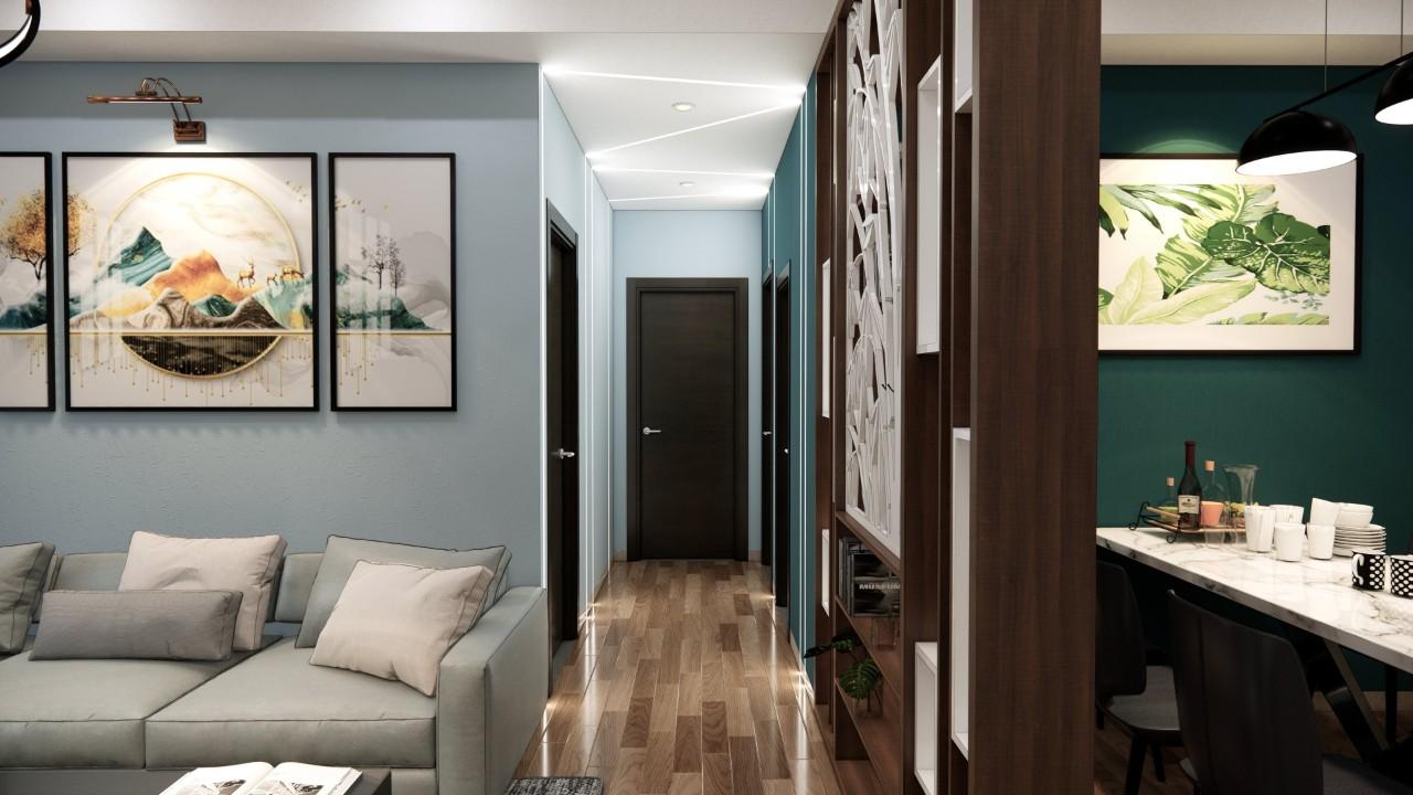 Thiết kế thi công nội thất chung cư Củ Chi